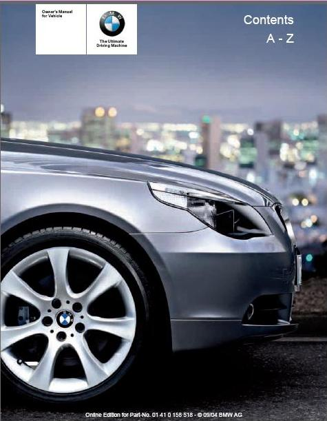 2005 bmw 530i owners manual