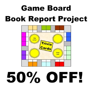 book report game board Well, the easiest way is probably to get a piece of posterboard, and cut it up into game-board sized pieces (so that if you screw up the first one.
