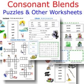 Consonant Blends Worksheets | eBooks | Children's eBooks