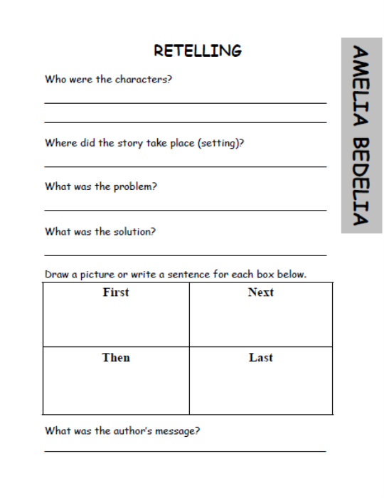 Amelia Bedelia Worksheets | ABITLIKETHIS