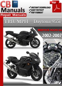 triumph daytona 955 i 2002 2007 factory service manual. Black Bedroom Furniture Sets. Home Design Ideas
