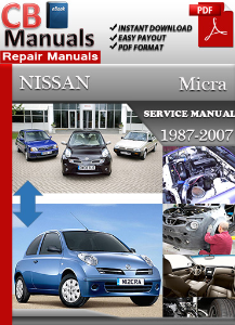 nissan micra 1987 2007 service manual download online. Black Bedroom Furniture Sets. Home Design Ideas
