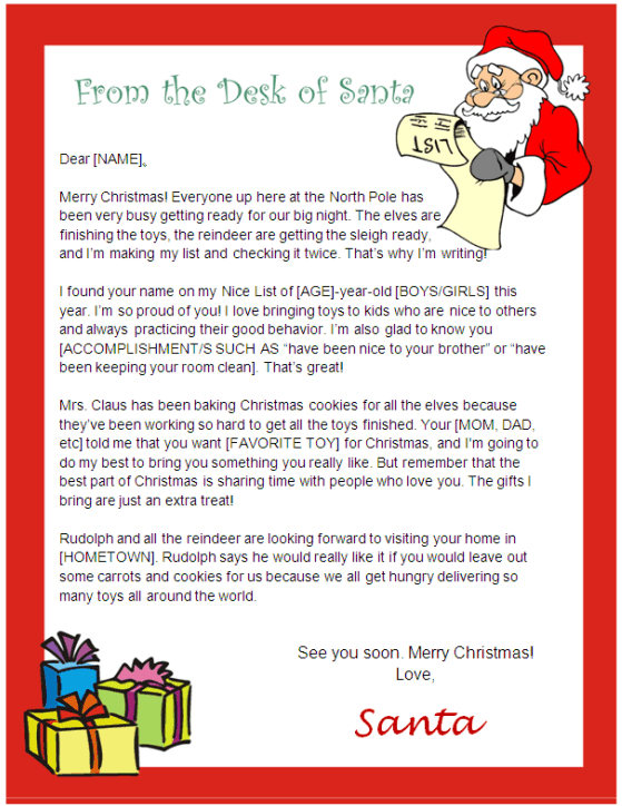 Printable Letter from Santa and Nice List Certificate | Other Files ...
