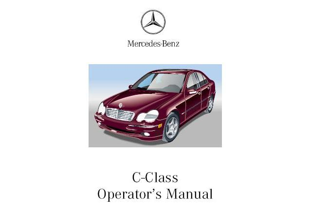 Free 2003 Mercedes C240 Owners Manual