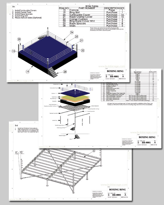 Boxing ring plans and blueprints pdf pdf woodworking Blueprint builder free