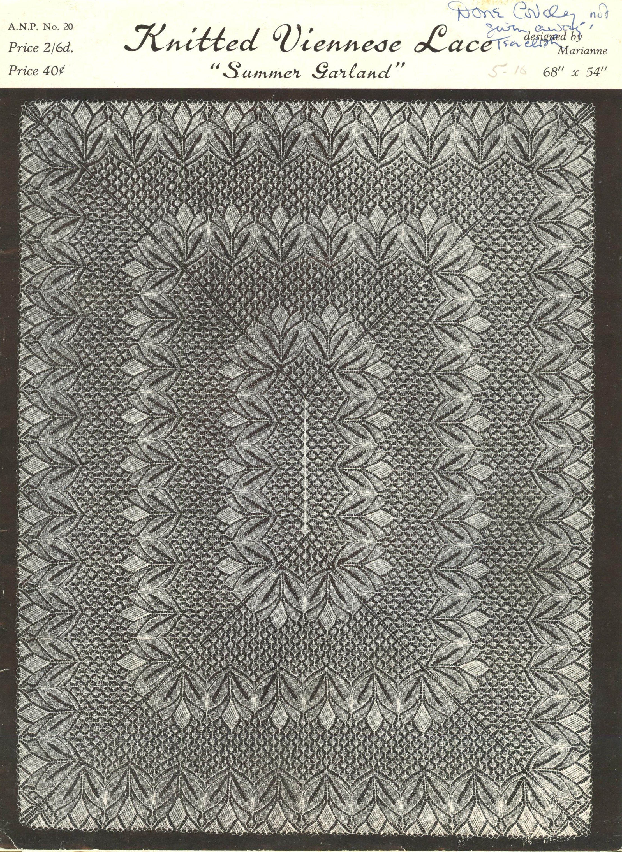 ANP20 Summer Garland vintage viennese lace knitting ...