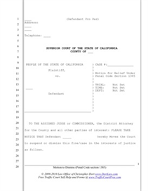 Motion to Dismiss Case (CA PC 1385) | Documents and Forms | Legal