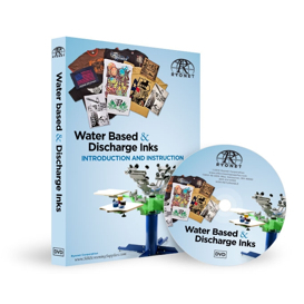 water based & discharge ink screen printing dvd
