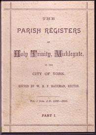 the parish registers of holy trinity, micklegate, york