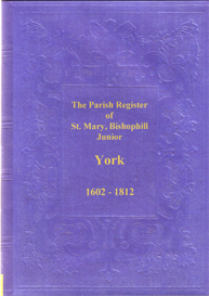 st. mary, bishophill junior, parish registers, in the city of york.