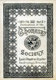 leeds chapelries register headingley & bramley thoresby society vol. xxix part ii