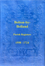 the parish registers of bolton-by-bolland, in the west riding of yorkshire.
