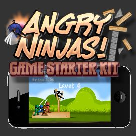 angry ninjas starter kit for ios app development - personal license
