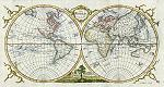 the world in hemispheres, thomas kitchin, 1777