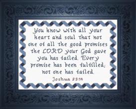 every promise fulfilled - joshua 23:14
