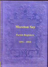 the parish registers of moreton say in shropshire.