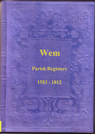 the parish registers of wem in shropshire. parts 1 - 5.