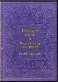 the parish registers of donington and of white ladies, shropshire