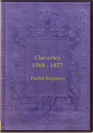 the parish registers of claverley, shropshire.