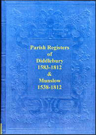 the parish registers of diddlebury and munslow in shropshire.