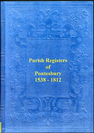 the parish registers of pontesbury in shropshire.
