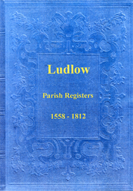 the parish registers of ludlow in shropshire.