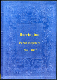 the parish registers of berrington in shropshire.