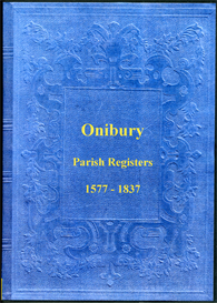 the parish registers of onibury in shropshire.
