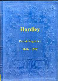 the parish registers of hordley in shropshire.