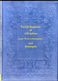 the parish registers of albrighton & boningale in shropshire.