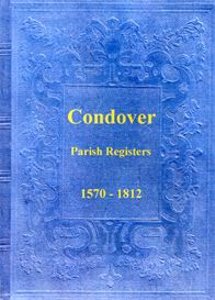 the parish registers of condover in shropshire.