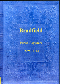 the parish registers of bradfield in yorkshire.