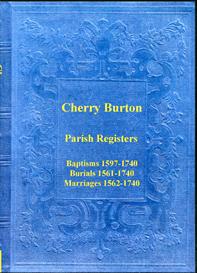 the parish registers of cherry burton in yorkshire