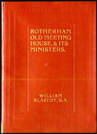 rotherham old meeting house, & it's ministers with supplementary chapters.