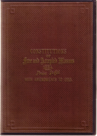 Constitutions of Free and Accepted Masons 1884 With amendments to 1888. | eBooks | Reference