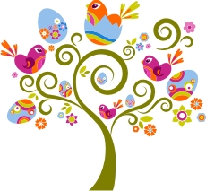 easter tree machine embroidery file
