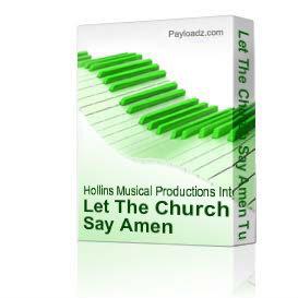 let the church say amen tutorial - marvin winans - video tutorial