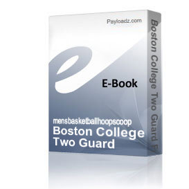 Boston College Two Guard Front Offense Playbook | eBooks | Sports