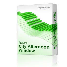 city afternoon window