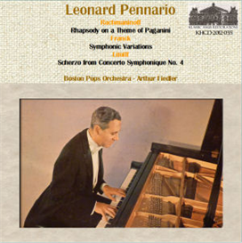 rachmaninoff: rhapsody on theme by paganini; franck: symphonic variations; litolff: scherzo from concerto symphonique no. 4 - leonard pennario, pianist; boston pops orchestra/arthur fiedler