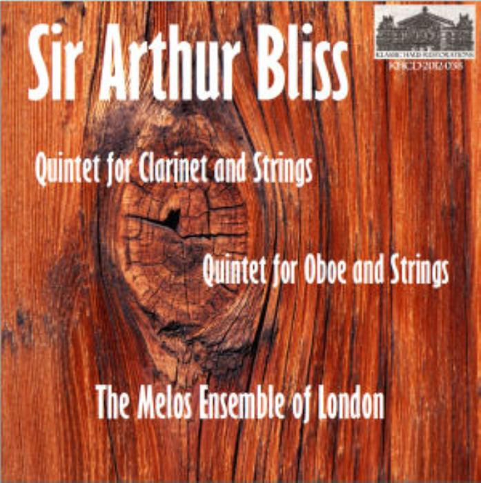 First Additional product image for - Bliss: Oboe Quintet - Clarinet Quintet -The Melos Ensemble of London - Gervase de Peyer, clarinet; Peter Graeme, oboe
