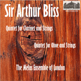 bliss: oboe quintet - clarinet quintet -the melos ensemble of london - gervase de peyer, clarinet; peter graeme, oboe