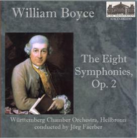 boyce: the eight symphonies, op. 2 - württemberg chamber orchestra, heilbronn/jörg faerber