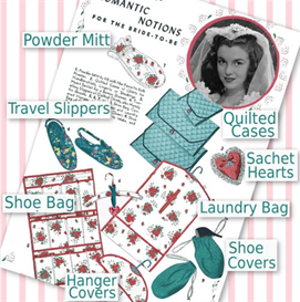romantic notions - travel accessories 1940's