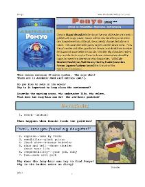 ponyo, whole-movie english (esl) lesson