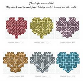 Shaded Celtic Heart Collection 1 | Crafting | Cross-Stitch | Other