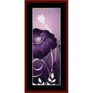 fractal 345 bookmark cross stitch pattern by cross stitch collectibles