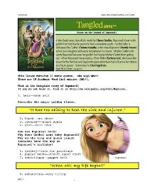 tangled,  whole-movie english (esl) lesson