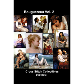 bouguereau cd/dvd vol. 2 - cross stitch pattern by cross stitch collectibles