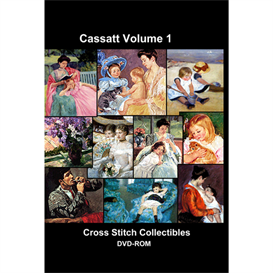 cassatt vol 1 cd/dvd - cross stitch pattern by cross stitch collectibles